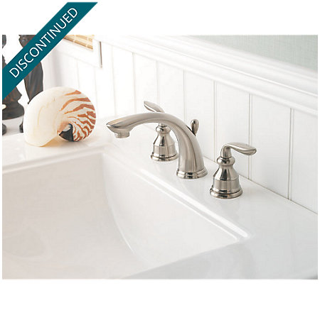 Brushed Nickel Avalon Widespread Bath Faucet - T49-CB0K - 3