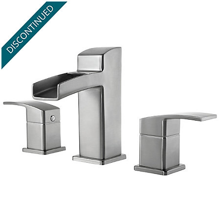 Brushed Nickel Kenzo Widespread Bath Faucet - T49-DF0K - 1
