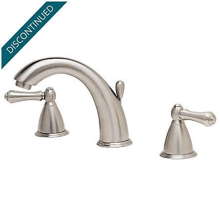 Brushed Nickel Carmel Centerset Bath Faucet - T49-JKXK | Pfister ...
