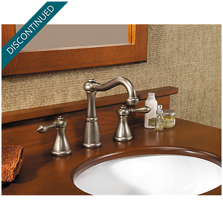 Rustic Pewter Marielle Widespread Bath Faucet - T49-M0BE - 2