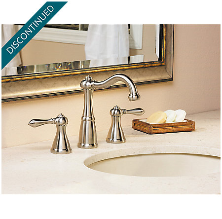 Brushed Nickel Marielle Widespread Bath Faucet - T49-M0BK - 3