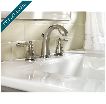 Brushed Nickel Portola Widespread Bath Faucet - T49-RP0K - 2