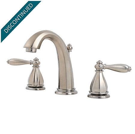 Brushed Nickel Portola Widespread Bath Faucet - T49-RP0K - 1