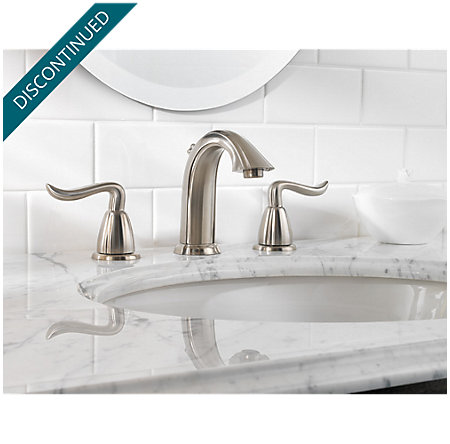 Brushed Nickel Santiago Widespread Bath Faucet - T49-ST0K - 2