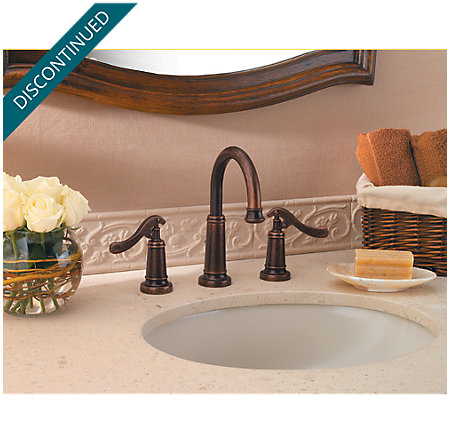 Rustic Bronze Ashfield Widespread Bath Faucet - T49-YP0U - 2