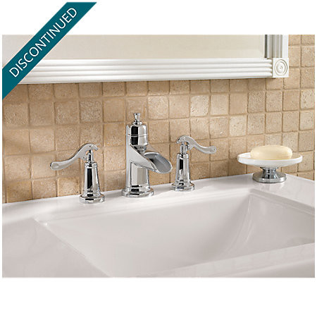 Polished Chrome Ashfield Widespread Bath Faucet - T49-YP1C - 2