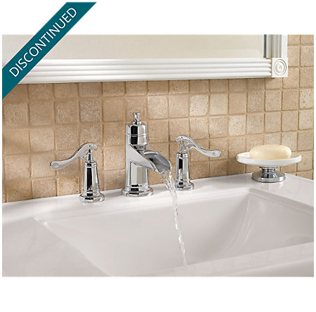 Polished Chrome Ashfield Widespread Bath Faucet - T49-YP1C - 3