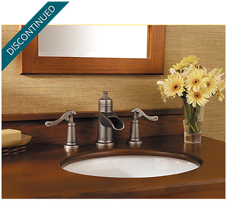 Rustic Pewter Ashfield Widespread Bath Faucet - T49-YP1E - 2