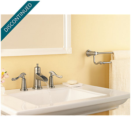 Brushed Nickel Ashfield Widespread Bath Faucet - T49-YP1K - 2