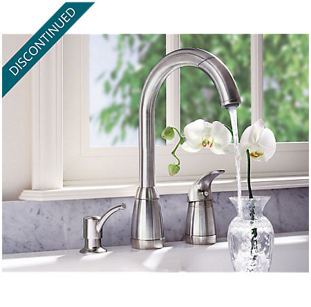 Stainless Steel Contempra 1-Handle Kitchen Faucet - T526-5SS - 2