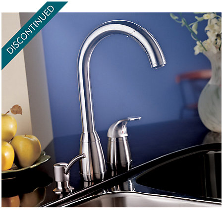 Stainless Steel Contempra 1-Handle Kitchen Faucet - T526-5SS - 3