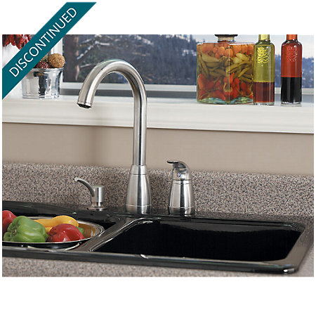 Stainless Steel Contempra 1-Handle Kitchen Faucet - T526-5SS - 4