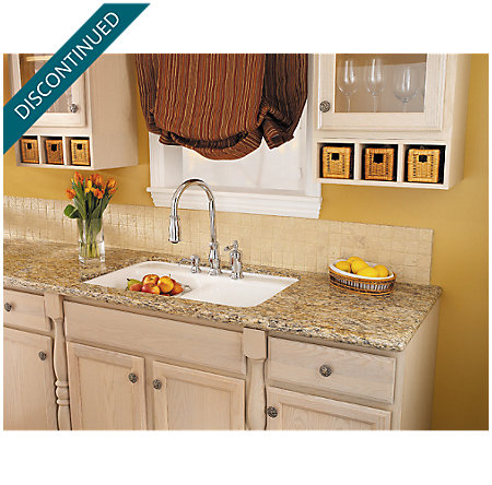 Polished Chrome Hanover 1-Handle, Pull-out/Pull-Down Kitchen Faucet - T526-TMC - 5