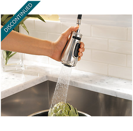 Stainless Steel Treviso 1-Handle, Pull-Down Kitchen Faucet - T529-DSS - 5