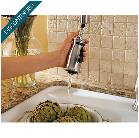 Stainless Steel Hanover 1-Handle, Pull-out/Pull-Down Kitchen Faucet - T529-TMS - 6