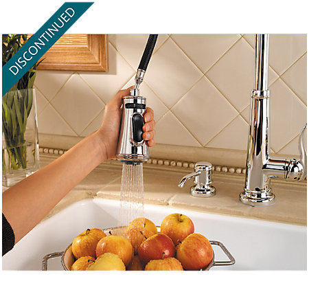 Polished Chrome Ashfield 1-Handle, Pull-Down Kitchen Faucet - T529-YPC - 8