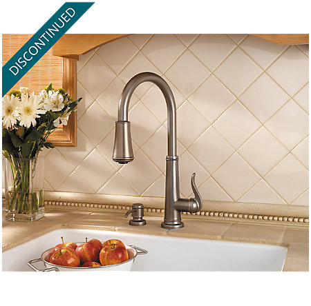 Rustic Pewter Ashfield 1-Handle, Pull-Down Kitchen Faucet - T529-YPE - 4