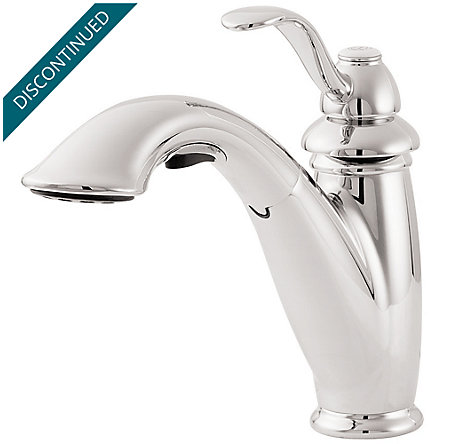 Polished Chrome Marielle 1-Handle, Pull-Out Kitchen Faucet - T532-7CC - 8
