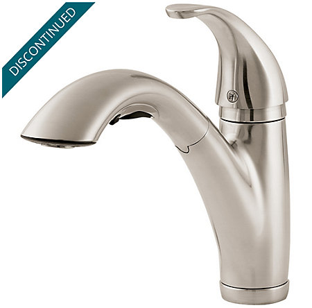 Stainless Steel Parisa 1-Handle, Pull-Out Kitchen Faucet - T534-7SS - 1