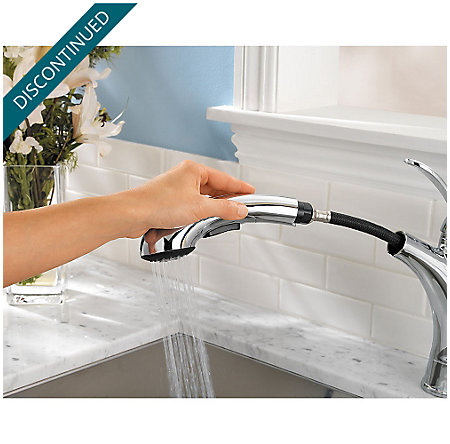 Polished Chrome Clairmont 1-Handle, Pull-out/Pull-Down Kitchen Faucet - T534-CMC - 6