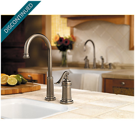 Rustic Pewter Ashfield Bar/Prep Kitchen Faucet - T72-YP2E - 2