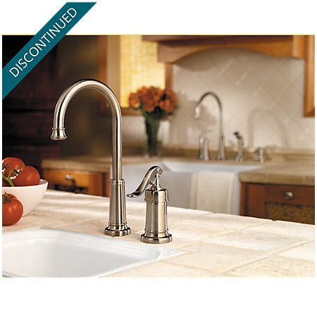Brushed Nickel Ashfield Bar/Prep Kitchen Faucet - T72-YP2K - 2