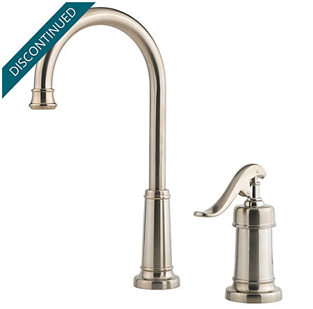 Brushed Nickel Ashfield Bar/Prep Kitchen Faucet - T72-YP2K - 1