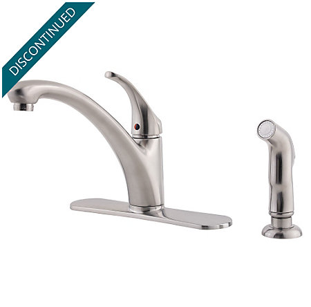 Stainless Steel Classic 1-Handle Kitchen Faucet - WK1-340S - 1