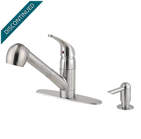 Stainless Steel Classic 1-Handle, Pull-out/Pull-Down Kitchen Faucet - WKP-533S - 2