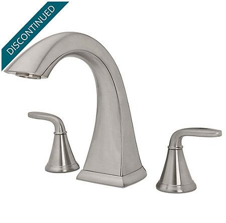 Brushed Nickel Selia Single Control Centerset Bath Faucet F 042 Slkk Pfister Faucets
