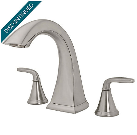 brushed nickel / polished chrome georgetown widespread bath faucet