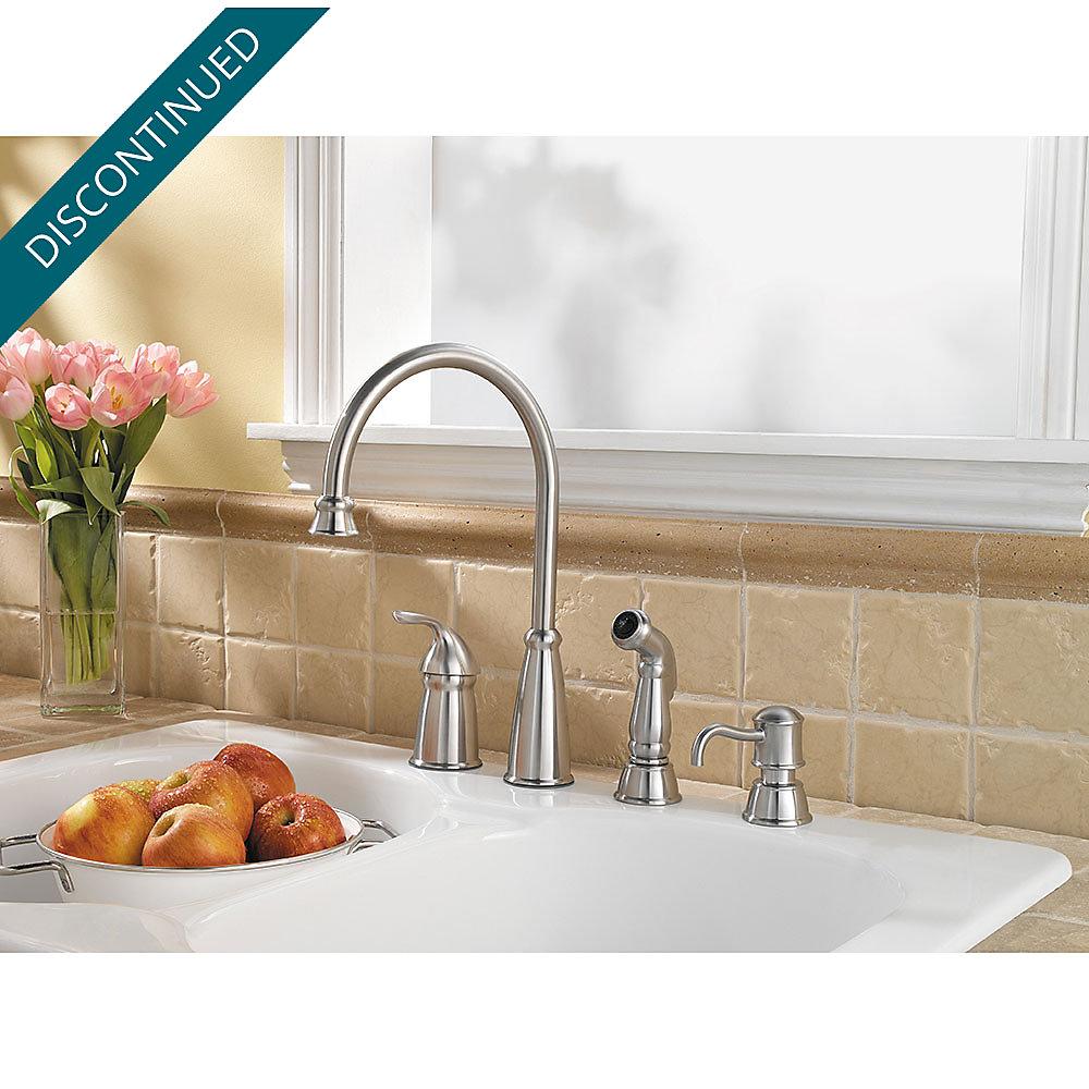 Stainless Steel Avalon 1-Handle Kitchen Faucet - 026-4CBS | Pfister ...