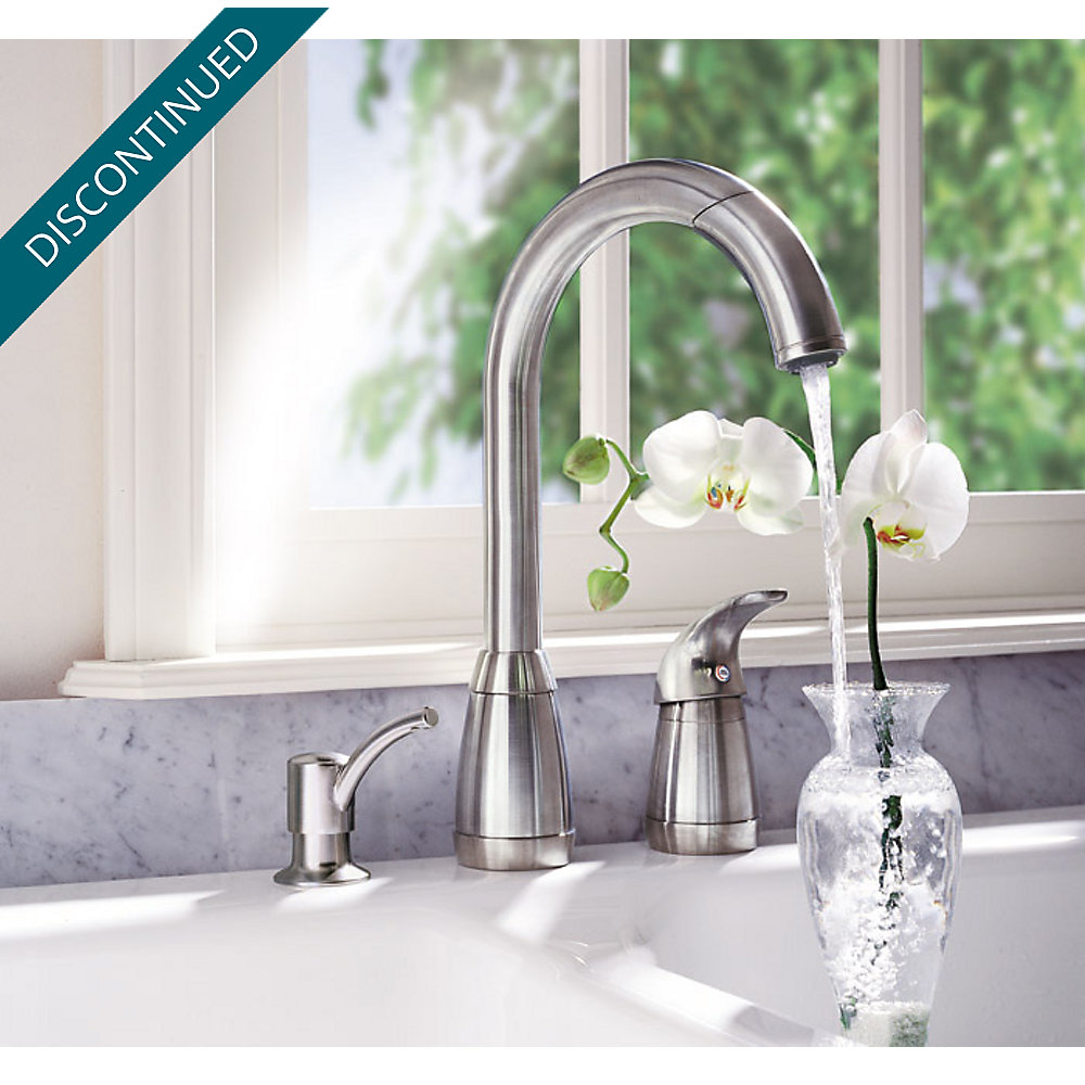 Stainless Steel Contempra 1-Handle Kitchen Faucet - 526-50SS ...