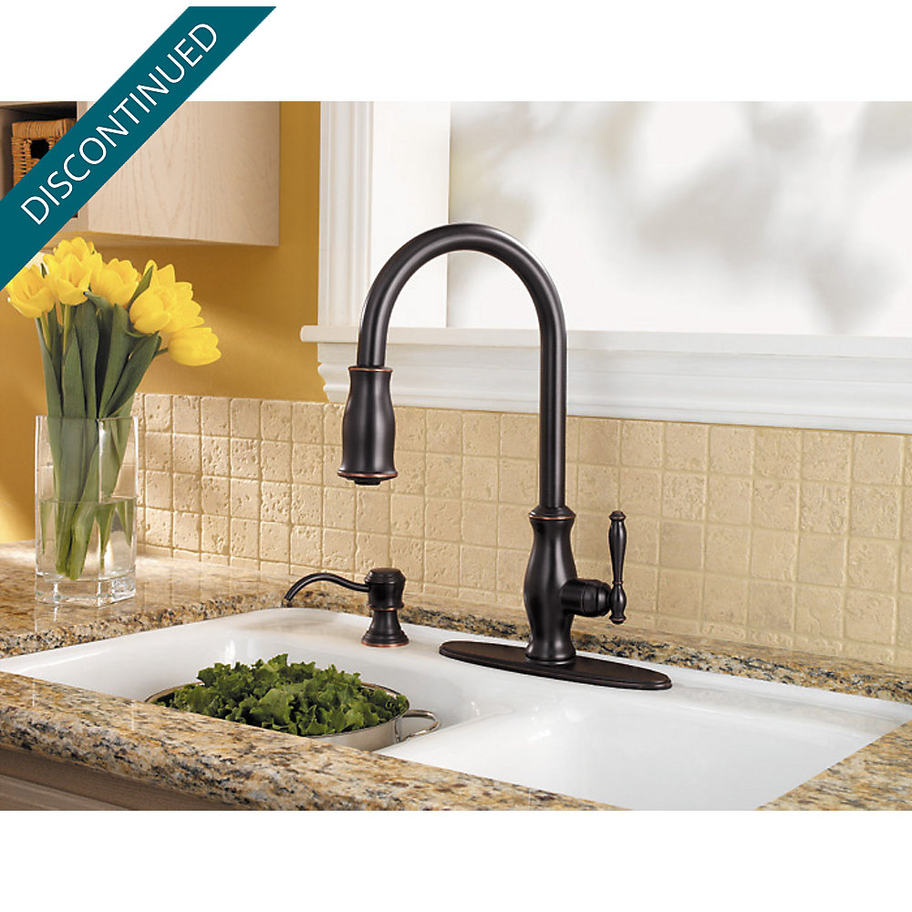 Tuscan Bronze Hanover 1-Handle, Pull-out/Pull-Down Kitchen Faucet