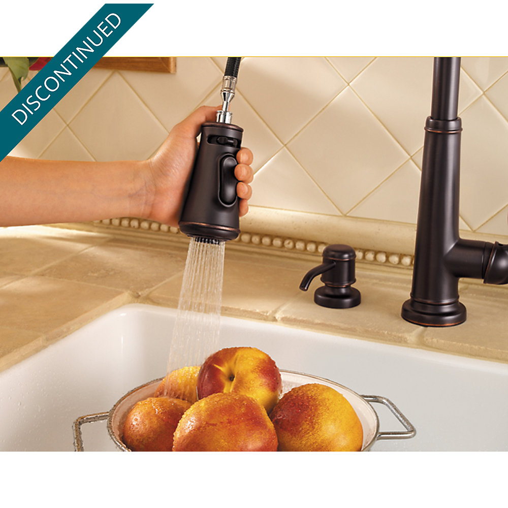 Tuscan Bronze Ashfield 1-Handle, Pull-Down Kitchen Faucet - 529-7YPY ...