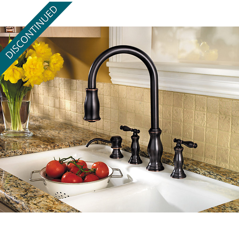 Tuscan Bronze Hanover 2-Handle, Pull-Down Kitchen Faucet - 531-4TMY ...