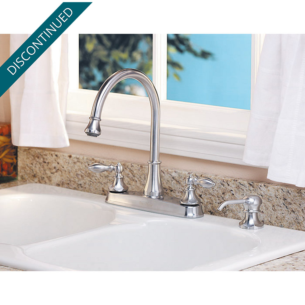 Stainless Steel Catalina 2-Handle, Pull-Out/Pull-Down Kitchen Faucet ...
