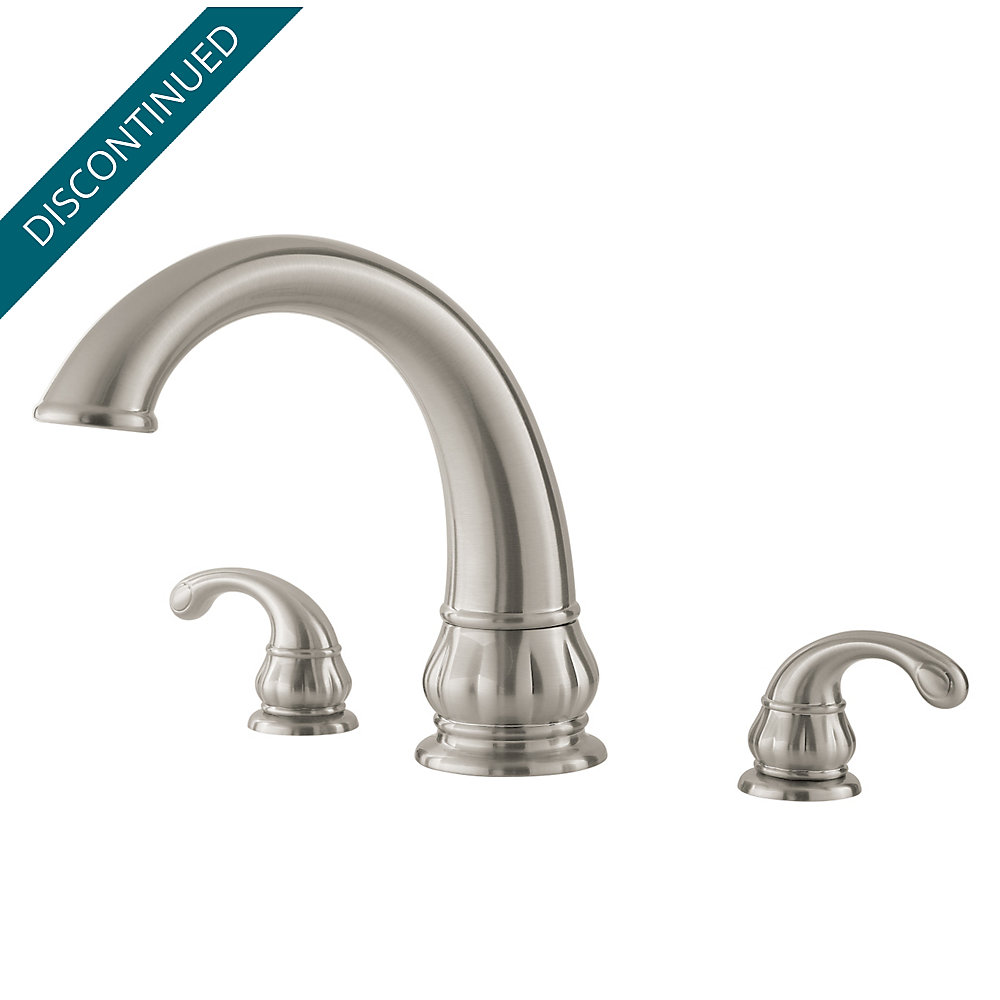 Brushed Nickel Treviso 3 Hole Roman Tub - 806-DK10 | Pfister Faucets