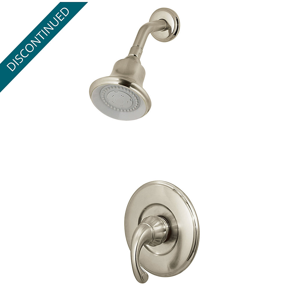 Brushed Nickel Treviso 1-Handle Shower, Complete With Valve - 808 ...