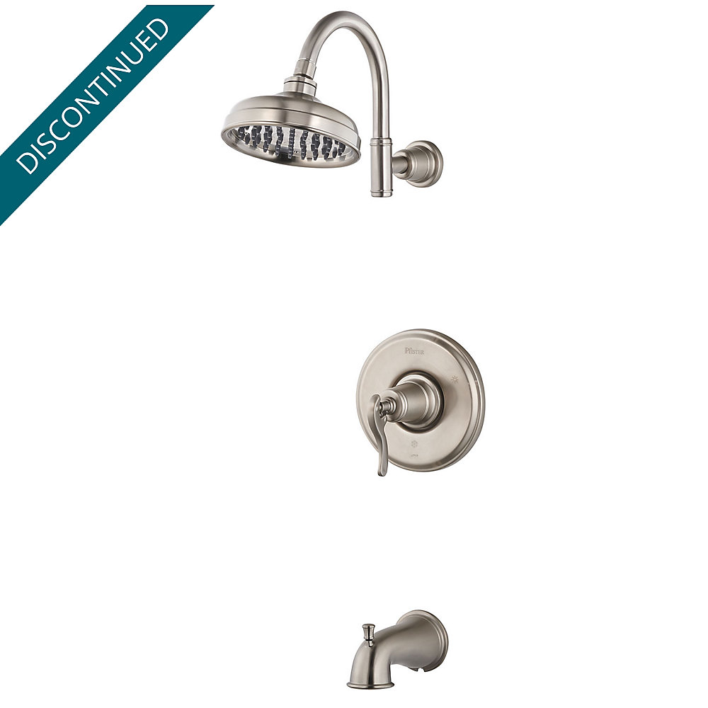 Brushed Nickel Ashfield 1-Handle Tub & Shower, Complete With Valve ...