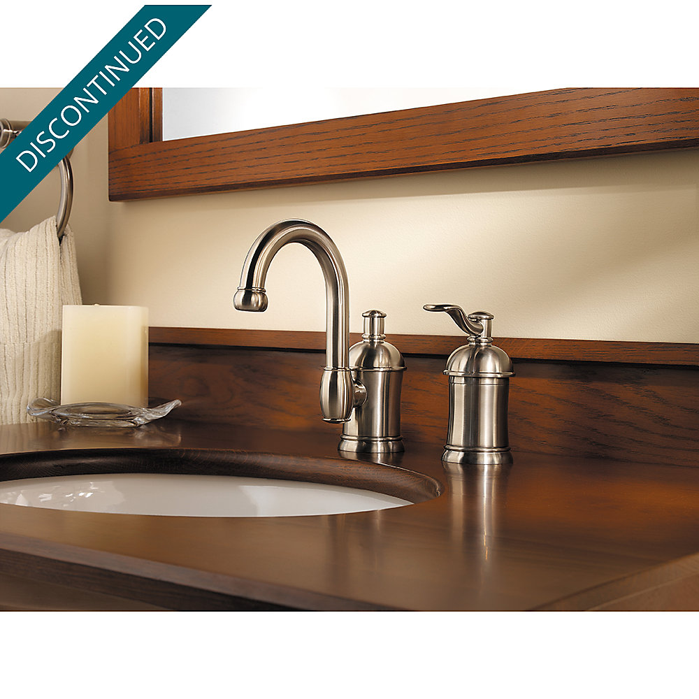 Brushed Nickel Amherst Widespread Bath Faucet - F-049-HA1K | Pfister ...