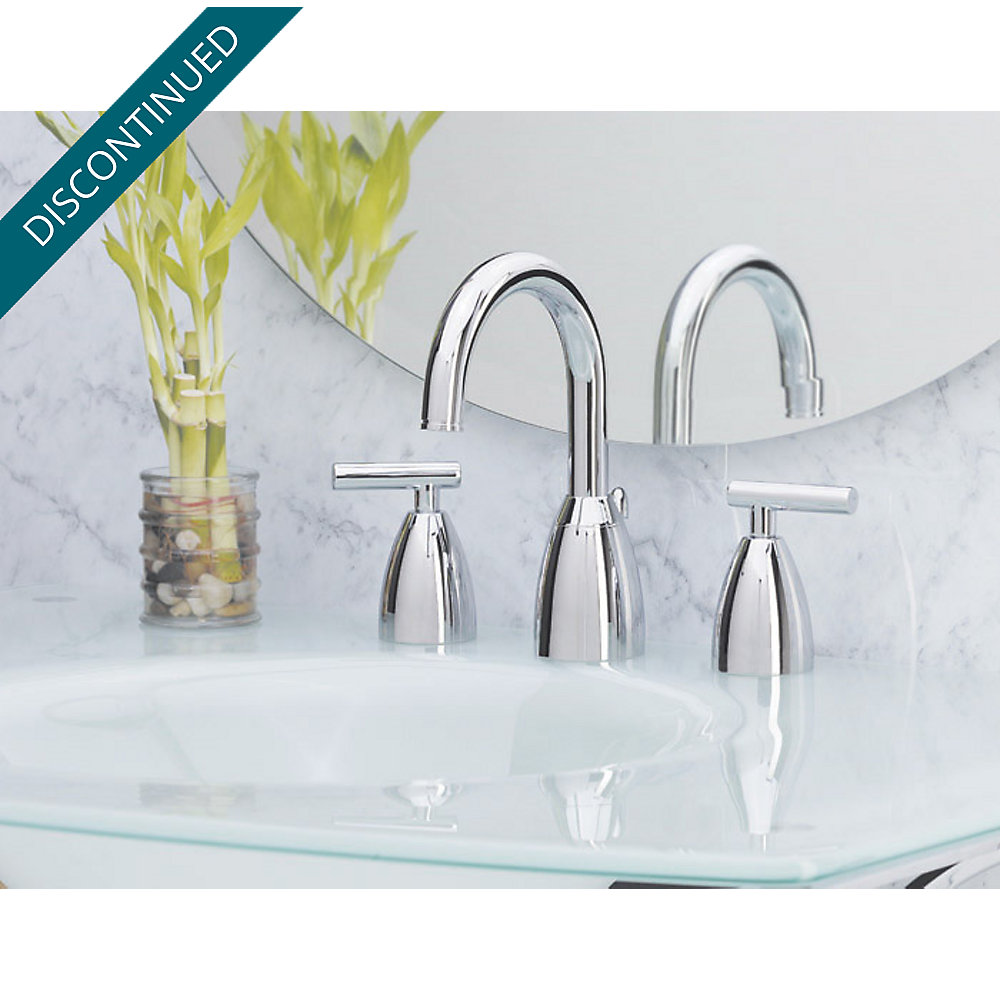 Polished Chrome Contempra Widespread Bath Faucet - F-049-NC00 ...