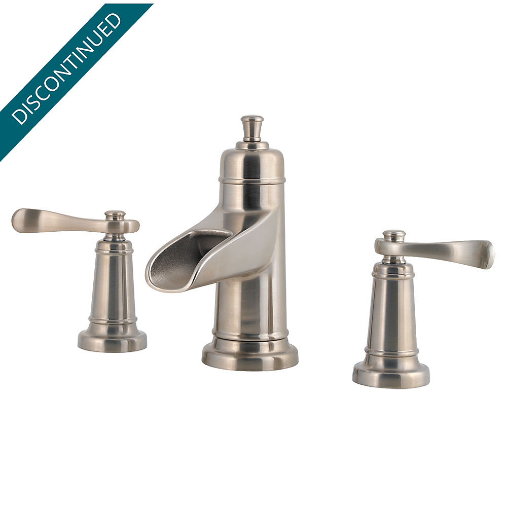 Brushed Nickel Ashfield Widespread Bath Faucet - F-049-YW2K ...
