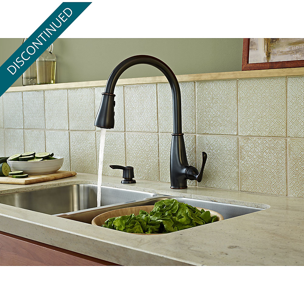 Tuscan Bronze Ainsley 1-Handle, Pull-Down Kitchen Faucet - F-529 ...