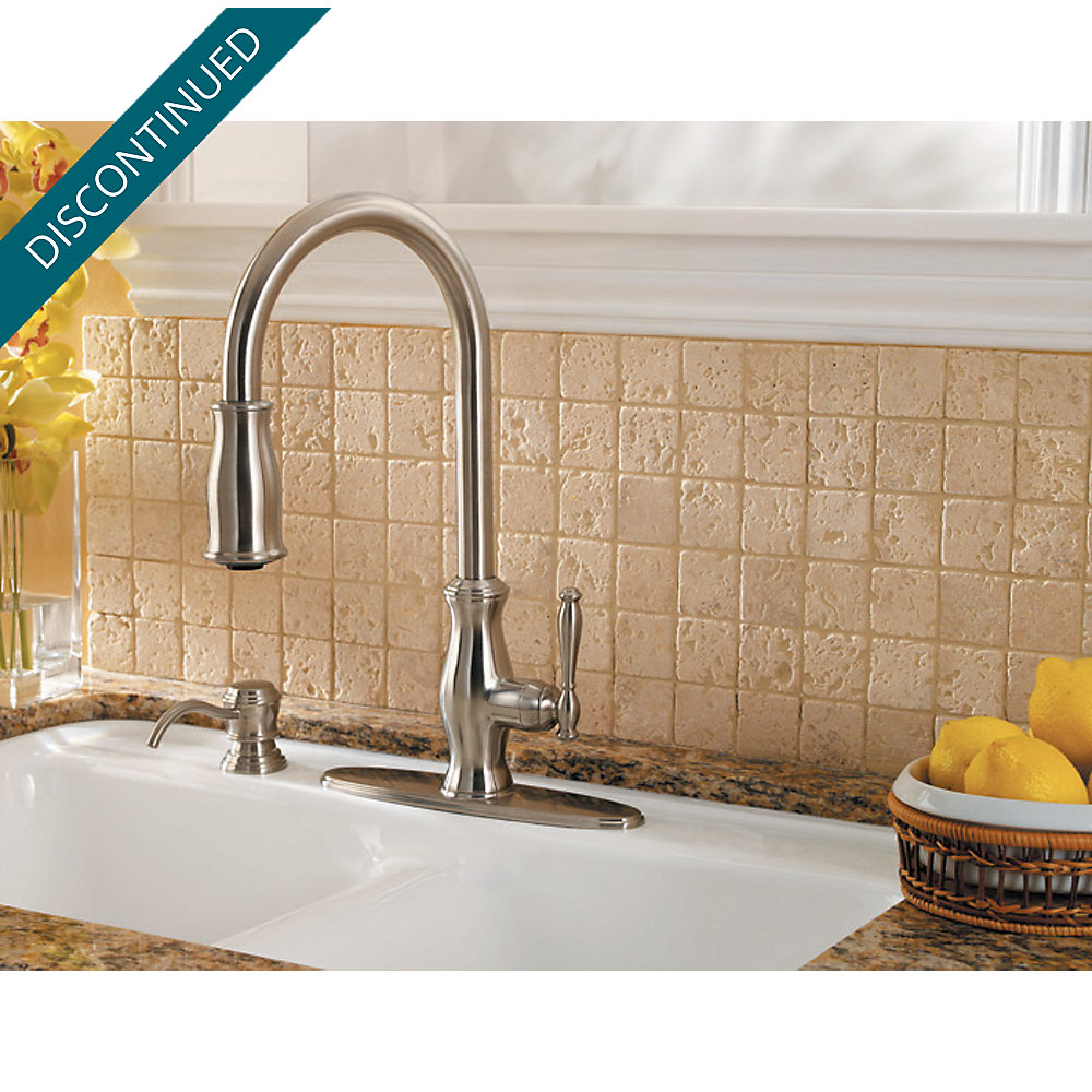 Stainless Steel Hanover 1-Handle, Pull-Down Kitchen Faucet - F-529 ...