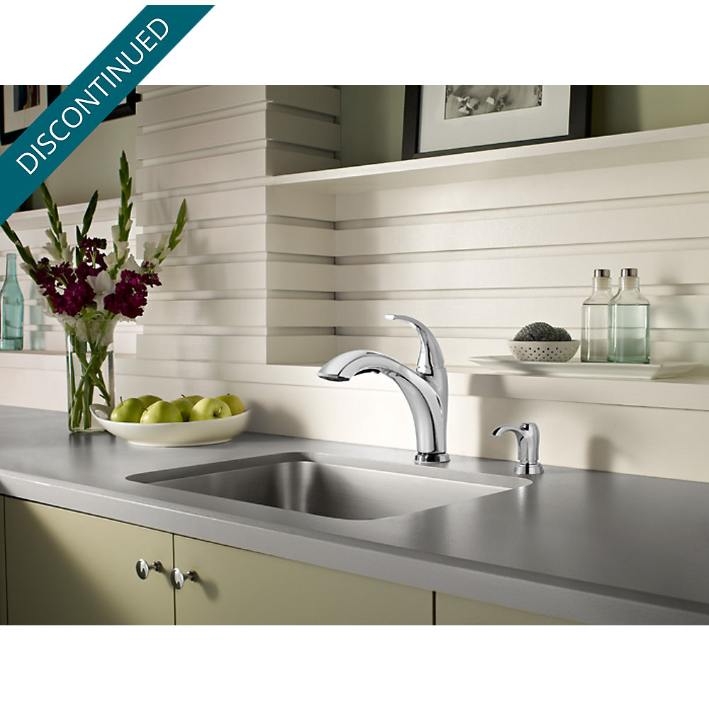 Polished Chrome Selia 1-Handle, Pull-Out Kitchen Faucet - F-534-PSLC ...