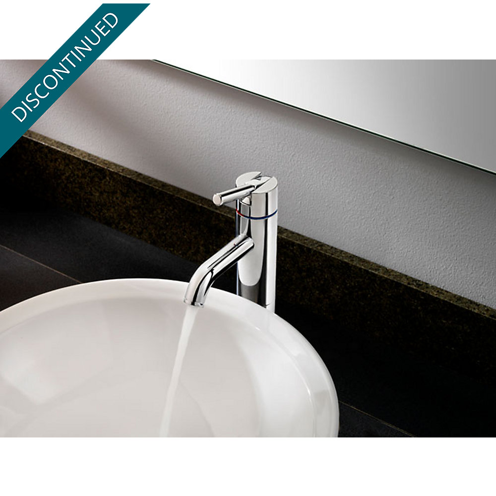 Polished Chrome Contempra Single Handle Vessel Faucet - GT40-NC00 ...