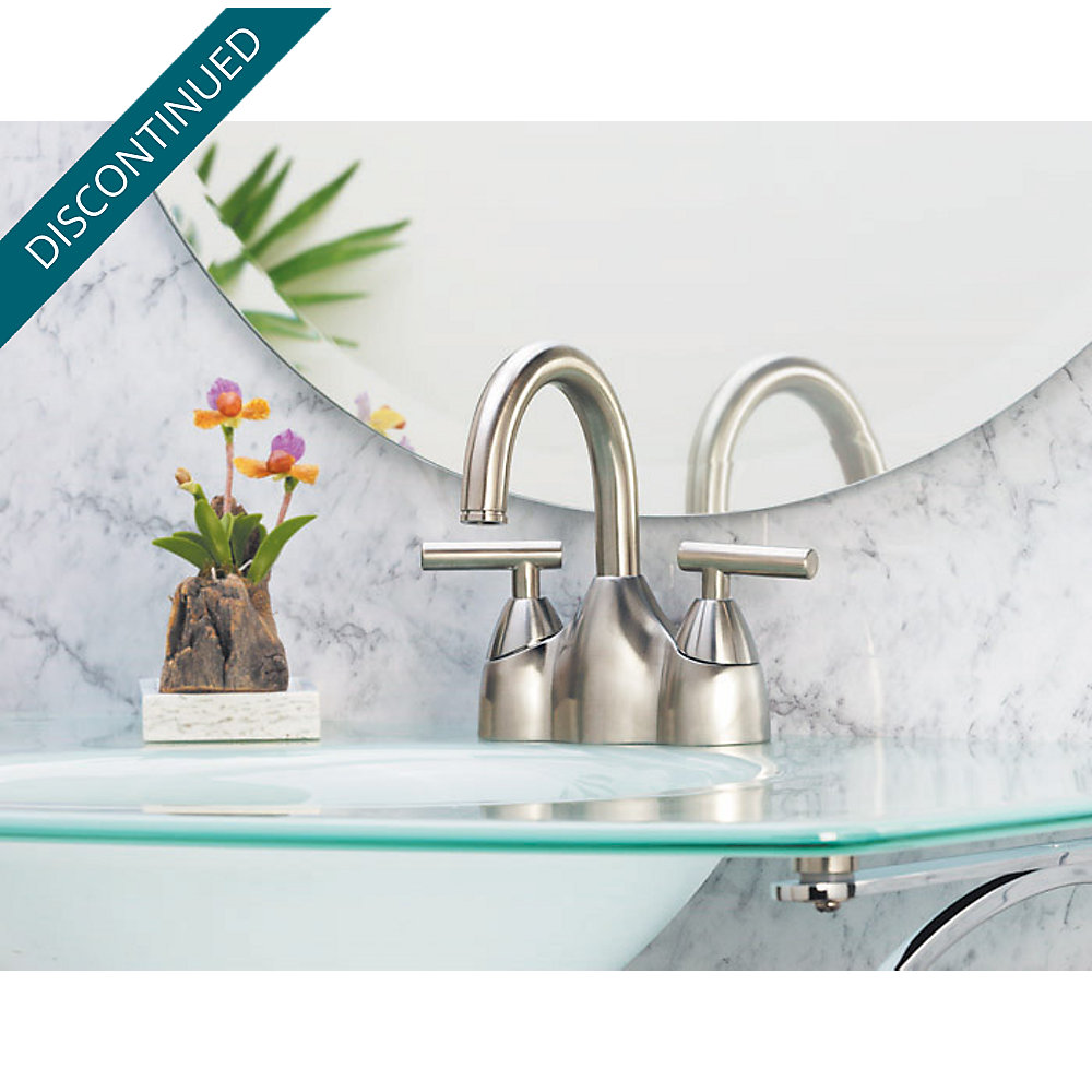 Brushed Nickel Contempra Centerset Bath Faucet - GT48-NK00 | Pfister ...