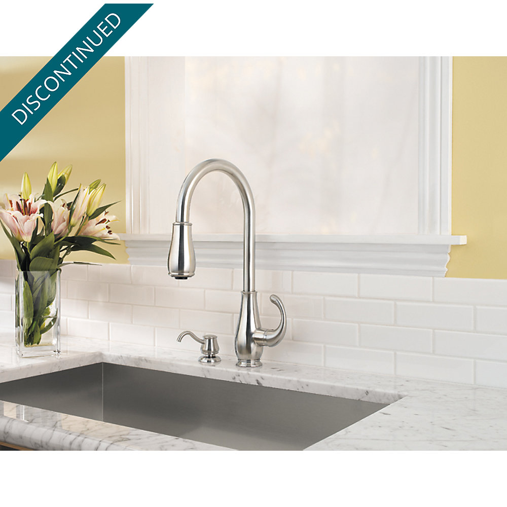 Stainless Steel Treviso 1-Handle, Pull-Down Kitchen Faucet - GT529 ...