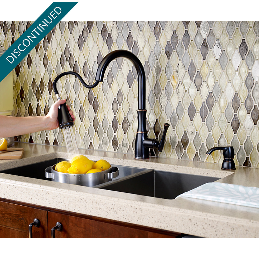 Tuscan Bronze Wheaton Pull-Down Kitchen Faucet - GT529-WHY | Pfister ...